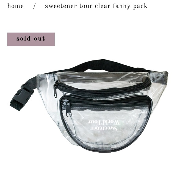 7bc026f9e1f Ariana Grande Sweetener Tour Clear Fanny Pack NWT